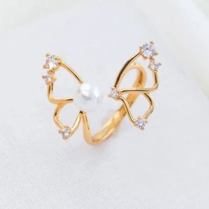 Alicia Bonnie gold tone flutter butterfly ring